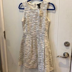 H&M Tweed and Sequin Fit and Flare Dress Sz 10